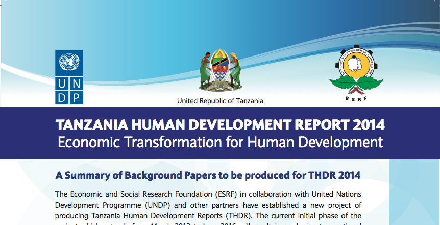 2Tanzania Human Development Report 2014: Background Papers